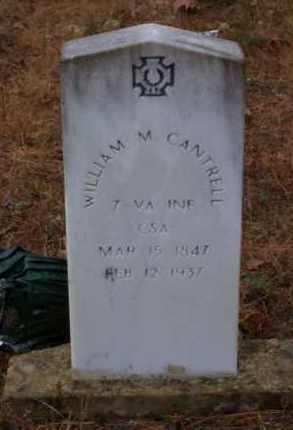 CANTRELL (VETERAN CSA), WILLIAM M - Baxter County, Arkansas | WILLIAM M CANTRELL (VETERAN CSA) - Arkansas Gravestone Photos