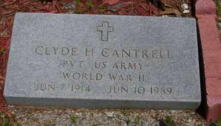 CANTRELL (VETERAN WWII), CLYDE H - Baxter County, Arkansas | CLYDE H CANTRELL (VETERAN WWII) - Arkansas Gravestone Photos