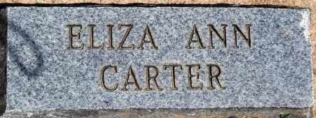CARTER, EIZA ANN - Baxter County, Arkansas | EIZA ANN CARTER - Arkansas Gravestone Photos