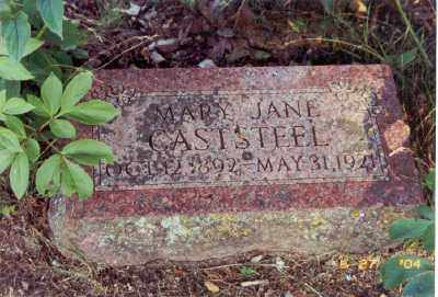 CASTSTEEL, MARY JANE - Baxter County, Arkansas | MARY JANE CASTSTEEL - Arkansas Gravestone Photos