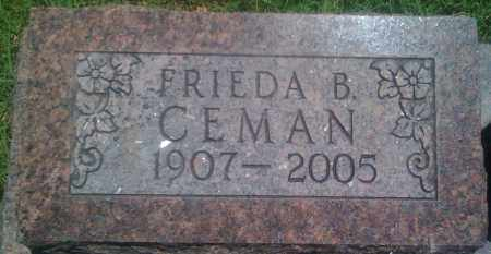 CEMAN, FRIEDA B. - Baxter County, Arkansas | FRIEDA B. CEMAN - Arkansas Gravestone Photos