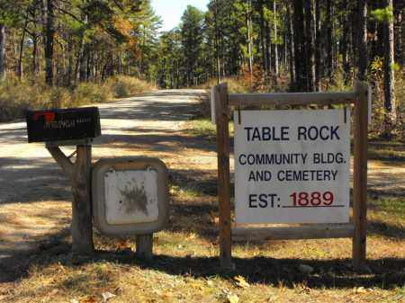 *, TABLE ROCK CEMETERY SIGN - Baxter County, Arkansas | TABLE ROCK CEMETERY SIGN * - Arkansas Gravestone Photos