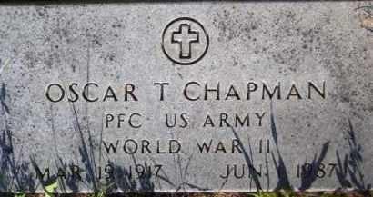 CHAPMAN (VETERAN WWII), OSCAR T - Baxter County, Arkansas | OSCAR T CHAPMAN (VETERAN WWII) - Arkansas Gravestone Photos