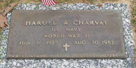 CHARVAT (VETERAN WWII), HAROLD A - Baxter County, Arkansas | HAROLD A CHARVAT (VETERAN WWII) - Arkansas Gravestone Photos
