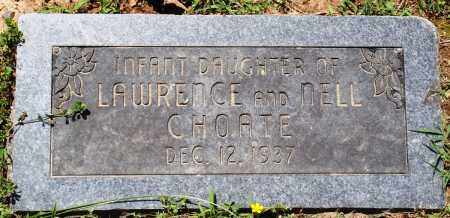 CHOATE, INFANT DAUGHTER - Baxter County, Arkansas | INFANT DAUGHTER CHOATE - Arkansas Gravestone Photos
