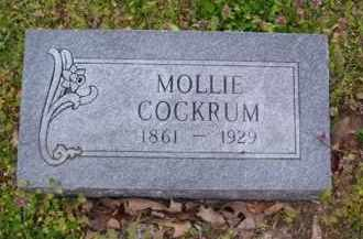 COCKRUM (2), MOLLIE - Baxter County, Arkansas | MOLLIE COCKRUM (2) - Arkansas Gravestone Photos