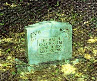 COCKRUM, THOMAS H. - Baxter County, Arkansas | THOMAS H. COCKRUM - Arkansas Gravestone Photos