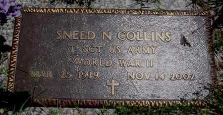 COLLINS  (VETERAN WWII), SNEED NOE - Baxter County, Arkansas | SNEED NOE COLLINS  (VETERAN WWII) - Arkansas Gravestone Photos