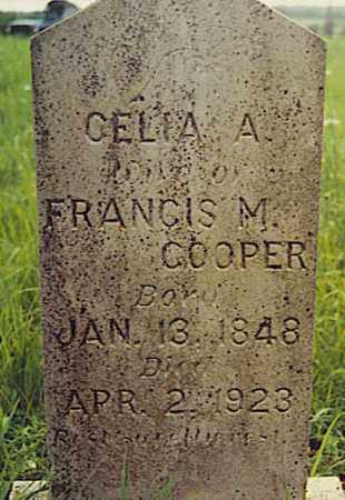 "CRANE COOPER, CELIA ALICE ""HETTIE"" - Baxter County, Arkansas 