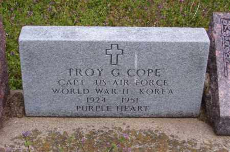 COPE (VETERAN 2 WARS, KIA), TROY G - Baxter County, Arkansas | TROY G COPE (VETERAN 2 WARS, KIA) - Arkansas Gravestone Photos
