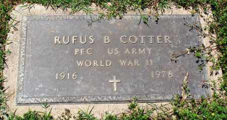 COTTER (VETERAN WWII), RUFUS B - Baxter County, Arkansas | RUFUS B COTTER (VETERAN WWII) - Arkansas Gravestone Photos