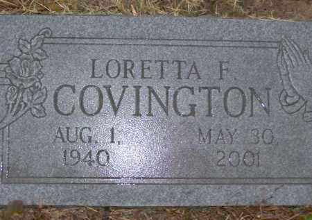COVINGTON, LORETTA FAYE - Baxter County, Arkansas | LORETTA FAYE COVINGTON - Arkansas Gravestone Photos