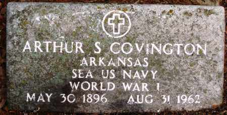 COVINGTON (VETERAN WWI), ARTHUR S - Baxter County, Arkansas | ARTHUR S COVINGTON (VETERAN WWI) - Arkansas Gravestone Photos