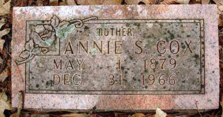 COX, ANNIE S - Baxter County, Arkansas | ANNIE S COX - Arkansas Gravestone Photos