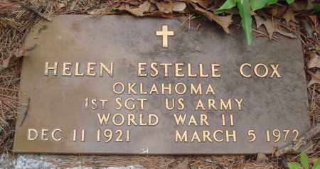 COX (VETERAN WWII), HELEN ESTELLE - Baxter County, Arkansas | HELEN ESTELLE COX (VETERAN WWII) - Arkansas Gravestone Photos