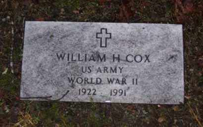 COX (VETERAN WWII), WILLIAM HENRY - Baxter County, Arkansas | WILLIAM HENRY COX (VETERAN WWII) - Arkansas Gravestone Photos