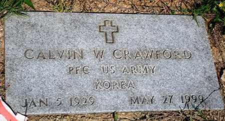 CRAWFORD (VETERAN KOR), CALVIN W - Baxter County, Arkansas | CALVIN W CRAWFORD (VETERAN KOR) - Arkansas Gravestone Photos