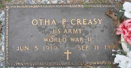 CREASY (VETERAN WWII), OTHA P - Baxter County, Arkansas | OTHA P CREASY (VETERAN WWII) - Arkansas Gravestone Photos
