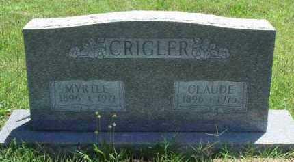 CRIGLER, MYRTLE - Baxter County, Arkansas | MYRTLE CRIGLER - Arkansas Gravestone Photos