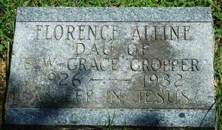 CROPPER, FLORENCE ALLINE - Baxter County, Arkansas | FLORENCE ALLINE CROPPER - Arkansas Gravestone Photos