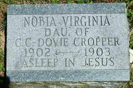 CROPPER, NOBIA VIRGINIA - Baxter County, Arkansas | NOBIA VIRGINIA CROPPER - Arkansas Gravestone Photos