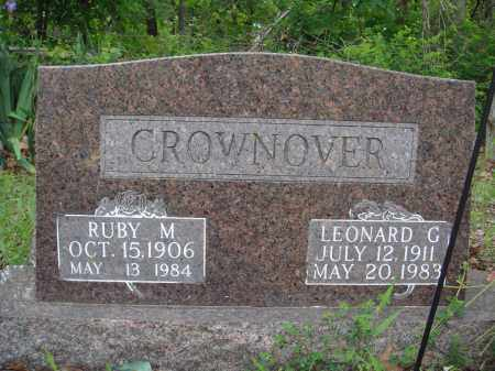 CROWNOVER, LEONARD G - Baxter County, Arkansas | LEONARD G CROWNOVER - Arkansas Gravestone Photos