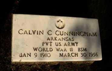 CUNNINGHAM  (VETERAN WWII), CALVIN C. - Baxter County, Arkansas | CALVIN C. CUNNINGHAM  (VETERAN WWII) - Arkansas Gravestone Photos