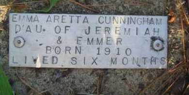 CUNNINGHAM, EMMA ARETTA - Baxter County, Arkansas | EMMA ARETTA CUNNINGHAM - Arkansas Gravestone Photos