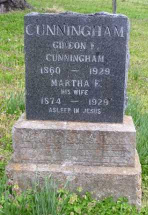 CUNNINGHAM, GIDEON E. - Baxter County, Arkansas | GIDEON E. CUNNINGHAM - Arkansas Gravestone Photos