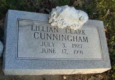 CLARK CUNNINGHAM, LILLIAN - Baxter County, Arkansas | LILLIAN CLARK CUNNINGHAM - Arkansas Gravestone Photos