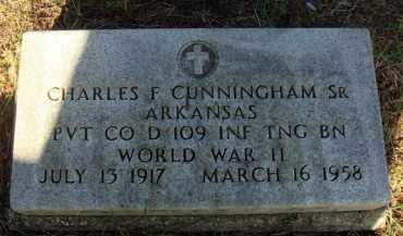CUNNINGHAM, SR  (VETERAN WWII), CHARLES F - Baxter County, Arkansas | CHARLES F CUNNINGHAM, SR  (VETERAN WWII) - Arkansas Gravestone Photos