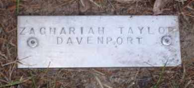DAVENPORT (VETERAN UNION), ZACHARIAH TAYLOR - Baxter County, Arkansas | ZACHARIAH TAYLOR DAVENPORT (VETERAN UNION) - Arkansas Gravestone Photos