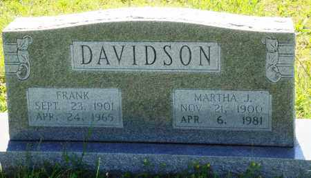 DAVIDSON, MARTHA J - Baxter County, Arkansas | MARTHA J DAVIDSON - Arkansas Gravestone Photos