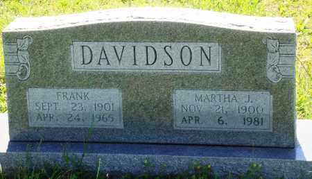 DAVIDSON, FRANK - Baxter County, Arkansas | FRANK DAVIDSON - Arkansas Gravestone Photos