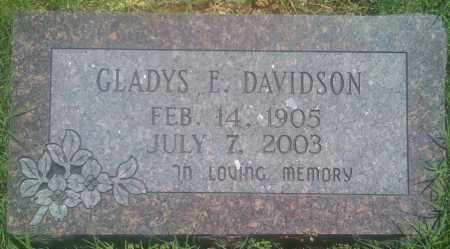 DAVIDSON, GLADYS E. - Baxter County, Arkansas | GLADYS E. DAVIDSON - Arkansas Gravestone Photos