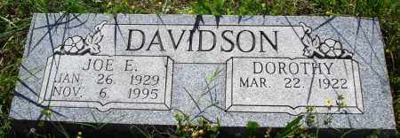 DAVIDSON, JOE E - Baxter County, Arkansas | JOE E DAVIDSON - Arkansas Gravestone Photos