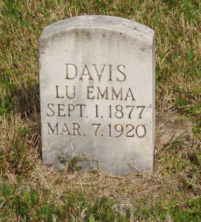 DAVIS, LUEMMA - Baxter County, Arkansas | LUEMMA DAVIS - Arkansas Gravestone Photos