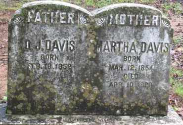 DAVIS, MARTHA - Baxter County, Arkansas | MARTHA DAVIS - Arkansas Gravestone Photos