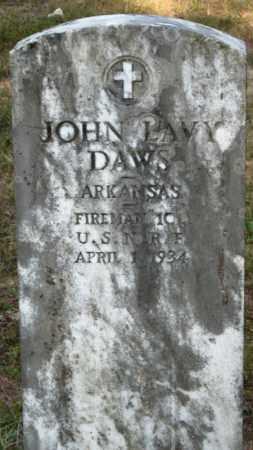 DAWS (VETERAN), JOHN LAVY - Baxter County, Arkansas | JOHN LAVY DAWS (VETERAN) - Arkansas Gravestone Photos
