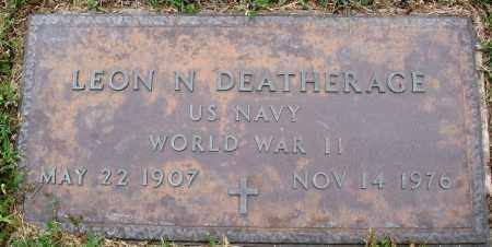 DEATHEAGE (VETERAN WWII), LEON N - Baxter County, Arkansas | LEON N DEATHEAGE (VETERAN WWII) - Arkansas Gravestone Photos