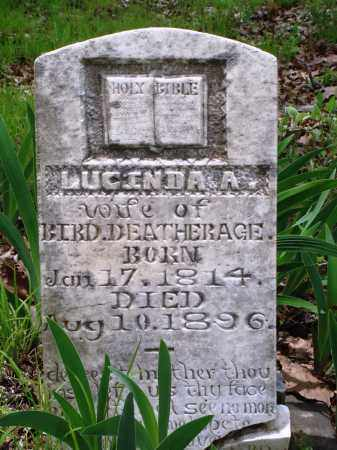 DEATHERAGE, LUCINDA A - Baxter County, Arkansas | LUCINDA A DEATHERAGE - Arkansas Gravestone Photos