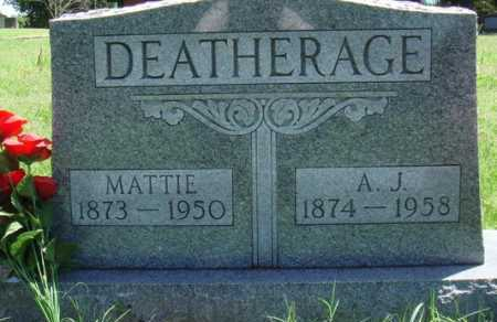 DEATHERAGE, A. J. - Baxter County, Arkansas | A. J. DEATHERAGE - Arkansas Gravestone Photos