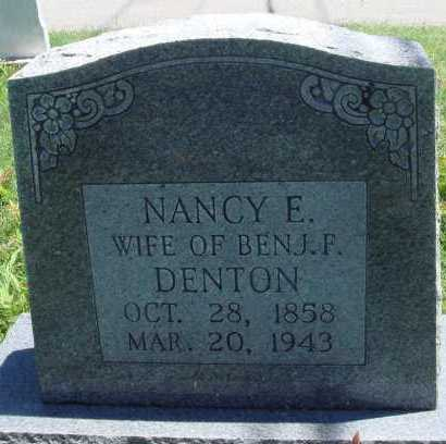 DENTON, NANCY E. - Baxter County, Arkansas | NANCY E. DENTON - Arkansas Gravestone Photos