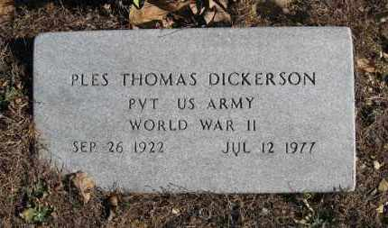DICKERSON (VETERAN WWII), PLES THOMAS - Baxter County, Arkansas | PLES THOMAS DICKERSON (VETERAN WWII) - Arkansas Gravestone Photos