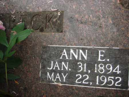 DILBECK, ANN E - Baxter County, Arkansas | ANN E DILBECK - Arkansas Gravestone Photos