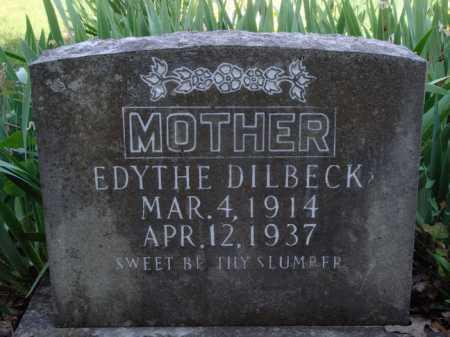 DILBECK, EDYTHE - Baxter County, Arkansas | EDYTHE DILBECK - Arkansas Gravestone Photos