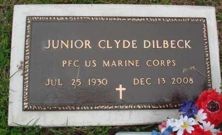 DILBECK (VETERAN), JUNIOR CLYDE - Baxter County, Arkansas | JUNIOR CLYDE DILBECK (VETERAN) - Arkansas Gravestone Photos