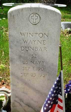 DUNBAR (VETERAN), WINTON WAYNE - Baxter County, Arkansas | WINTON WAYNE DUNBAR (VETERAN) - Arkansas Gravestone Photos
