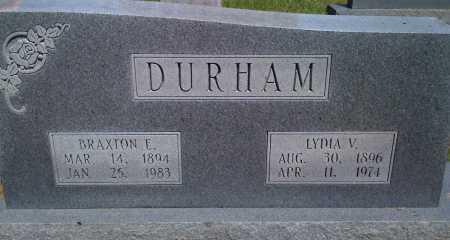 DURHAM, LYDIA V - Baxter County, Arkansas | LYDIA V DURHAM - Arkansas Gravestone Photos