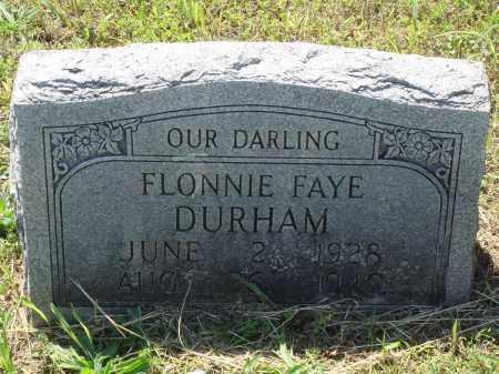 DURHAM, FLONNIE FAYE - Baxter County, Arkansas | FLONNIE FAYE DURHAM - Arkansas Gravestone Photos